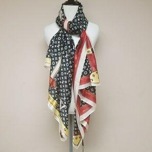 Large silk Louis Vuitton scarf/wrap.
